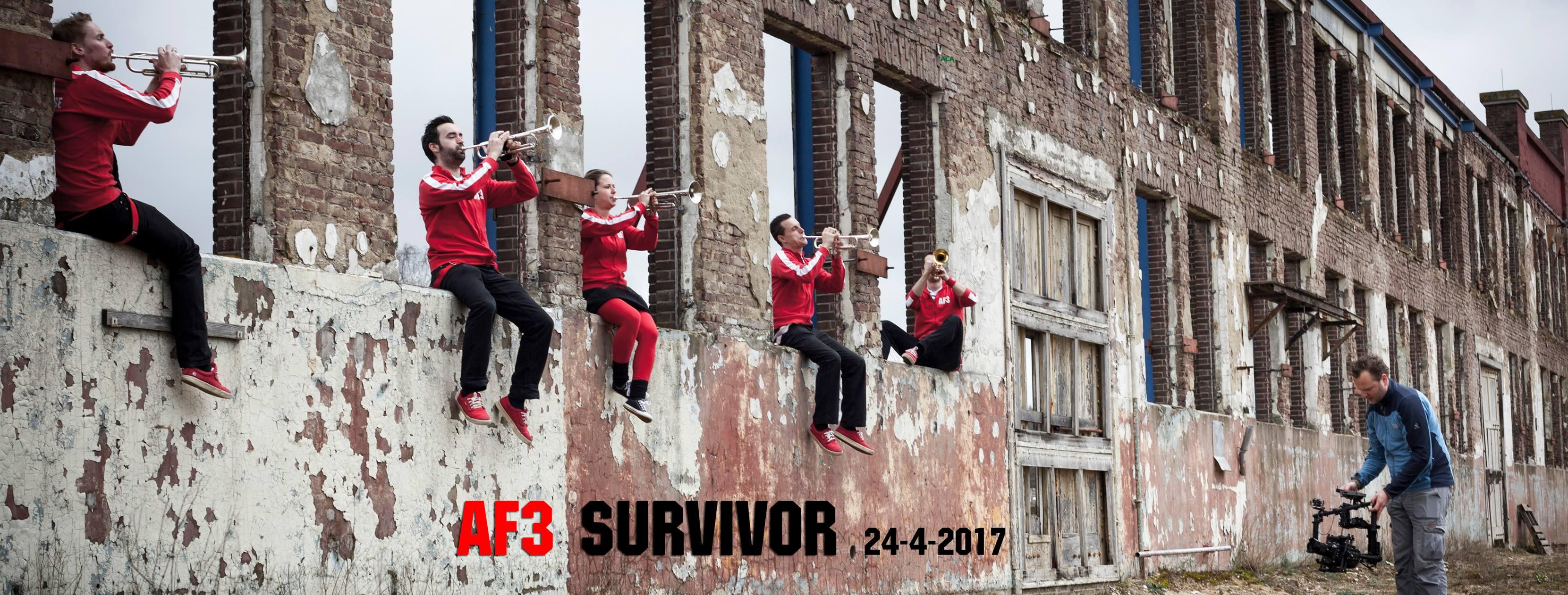 Videoclip Survivor van dweilorkest Alarmfase 3 uit Bemmel